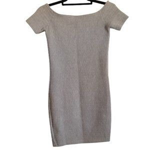 Topshop Grey Bodycon mini dress size 2